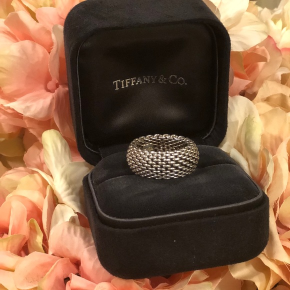 Tiffany & Co. Jewelry - Tiffani &co Somerset Mesh ring .💙